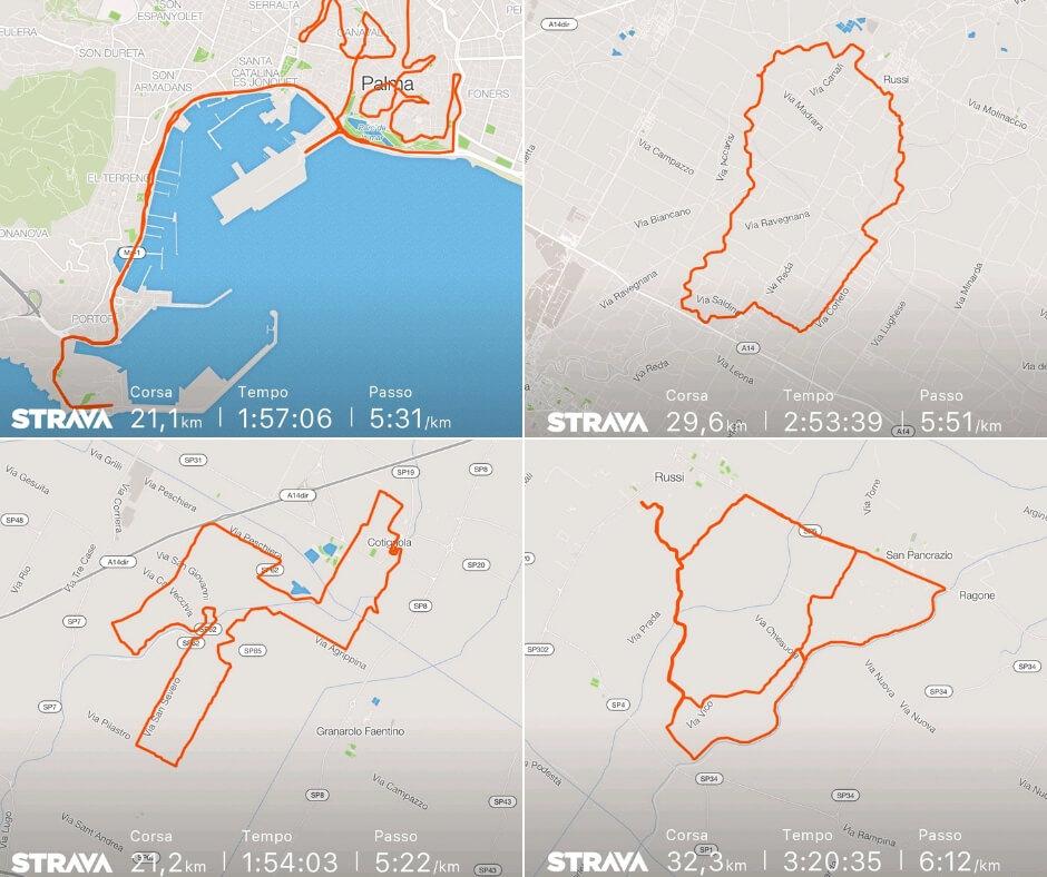 percorsi ottobre preparazione maratona