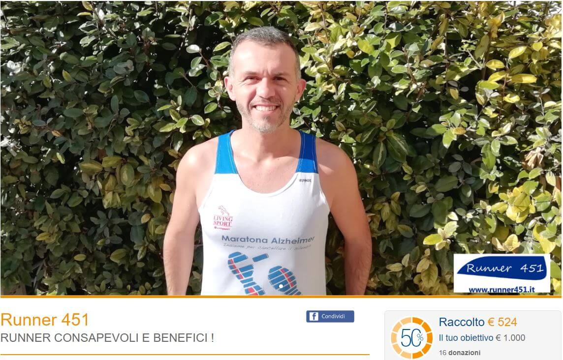 raccolta benefica runner 451
