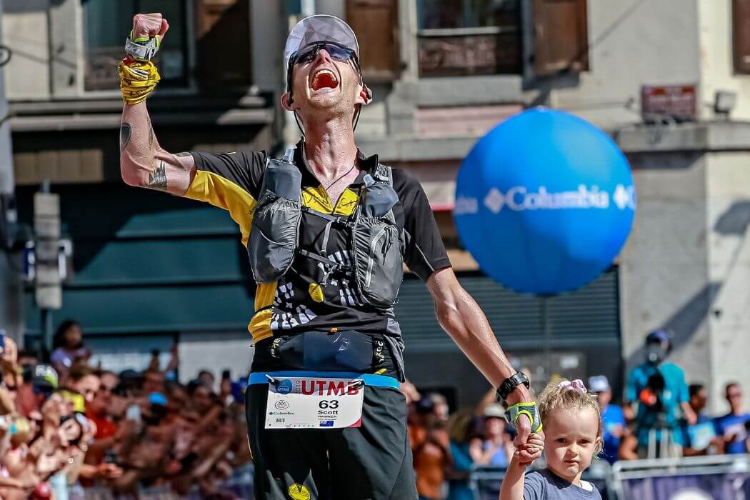 Scotty Hawker 3 place UTMB19 with CamelBak Zephyr Vest