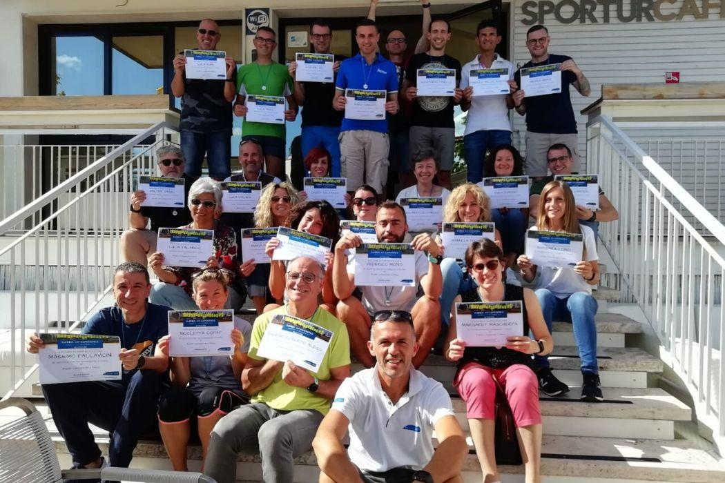 Gruppo podistico al Running Campus