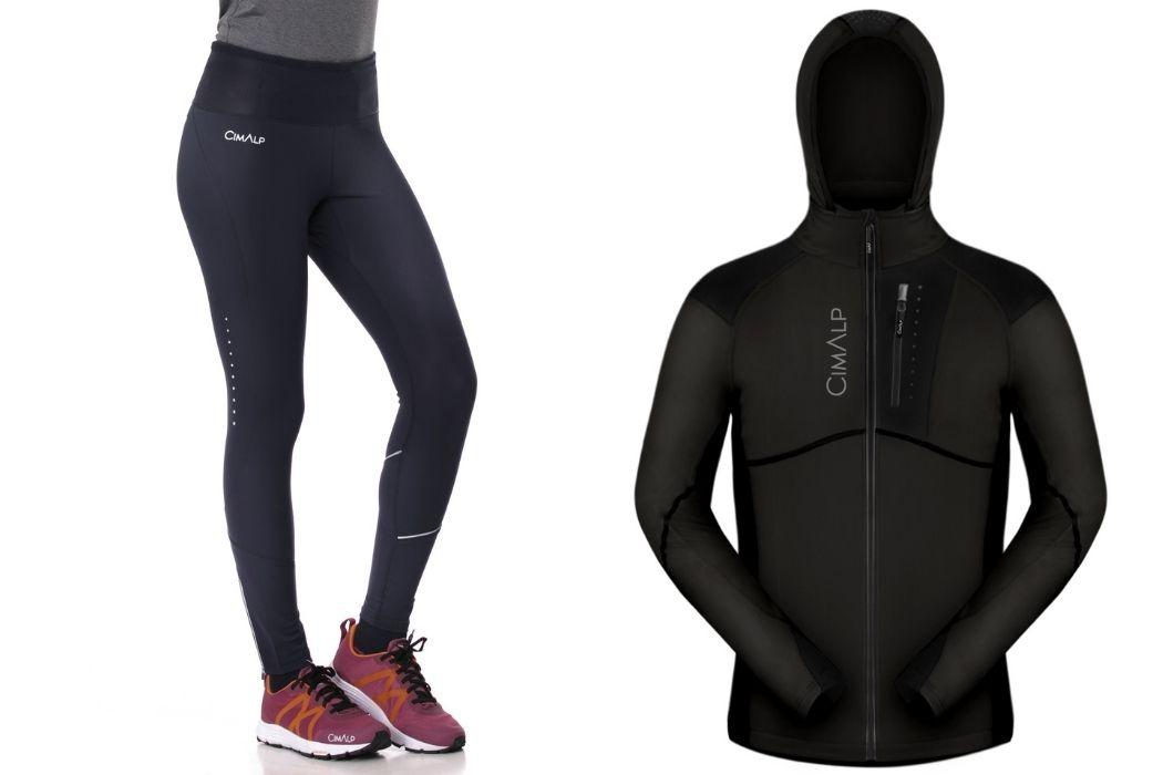 calza maglia e giacca trail running
